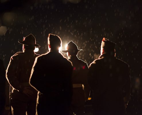 ANZAC Dawn Service soldiers